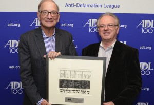 From left: Anti-Defamation League honorees Leonard Comden and Steve Wasserman.