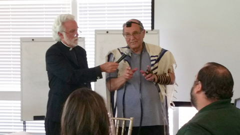 Father Alexei Smith and Rabbi Elliot Dorff explain a joint reading of the New Testament