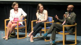 ADL's Susskind, Bet Tzedek's Kornberg and Urban League's Rollins during the Q and A.